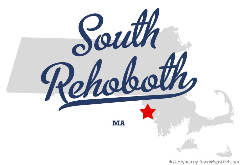 Map of South Rehoboth Massachusetts MA