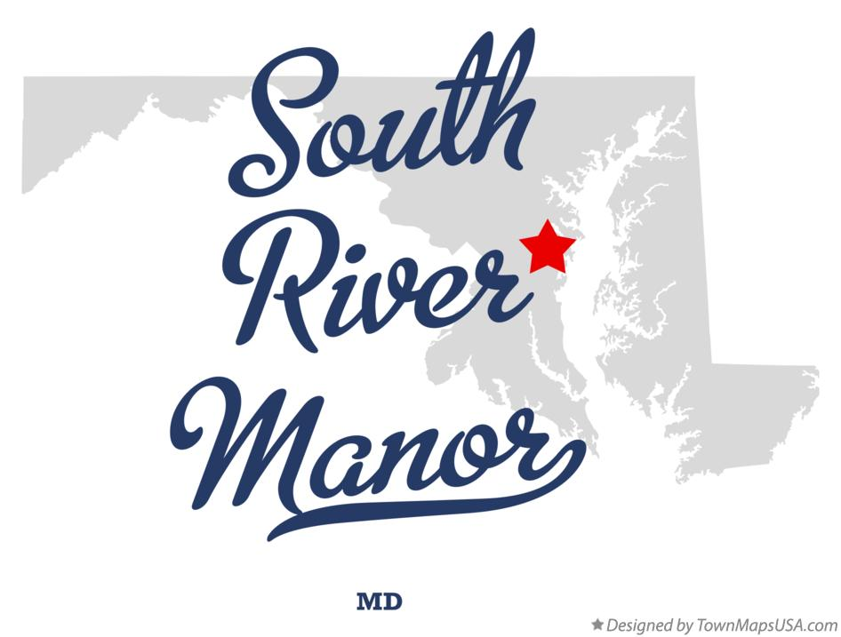 Map of South River Manor Maryland MD