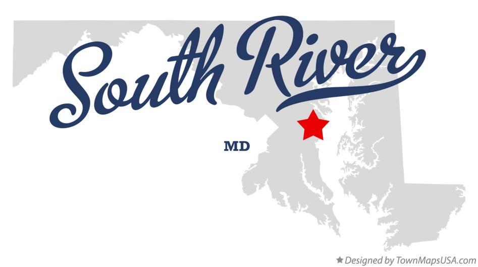 Map of South River Maryland MD
