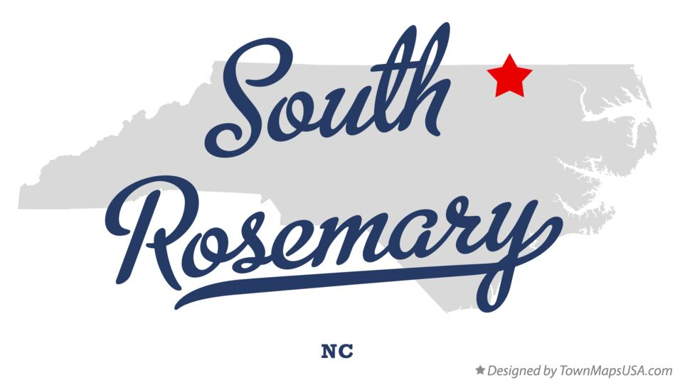 Map of South Rosemary North Carolina NC