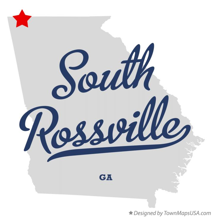 Map of South Rossville Georgia GA