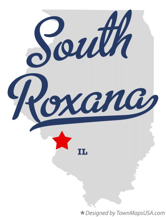 Map of South Roxana Illinois IL