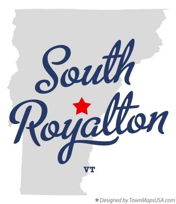Map of South Royalton Vermont VT