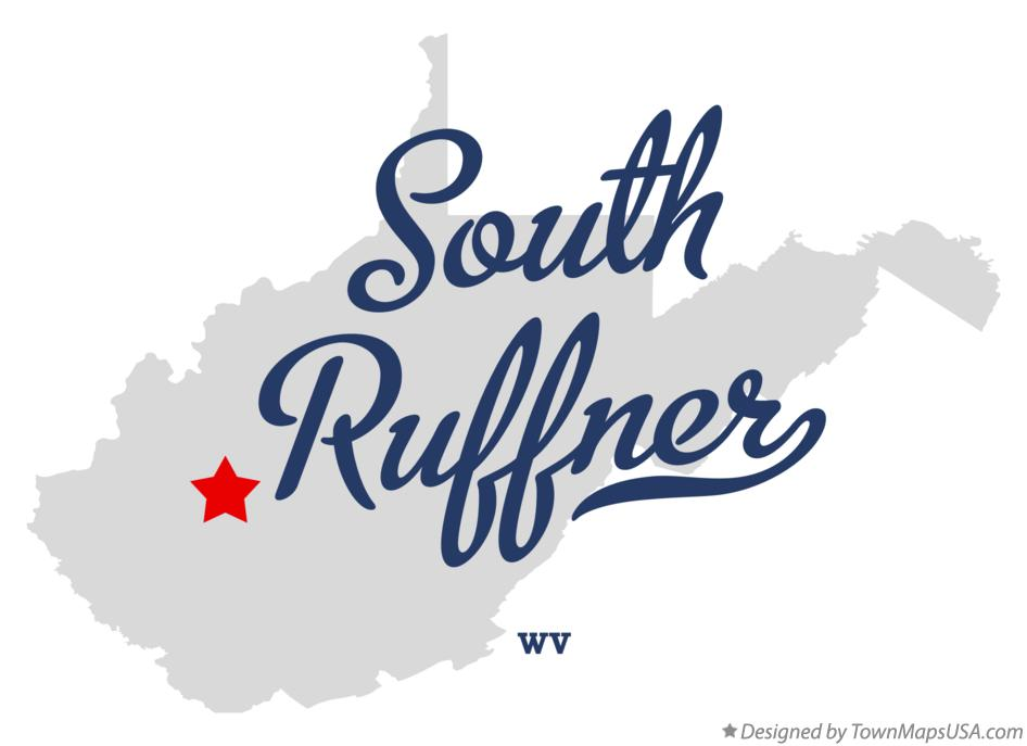 Map of South Ruffner West Virginia WV