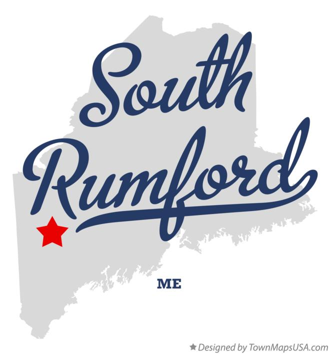 Map of South Rumford Maine ME