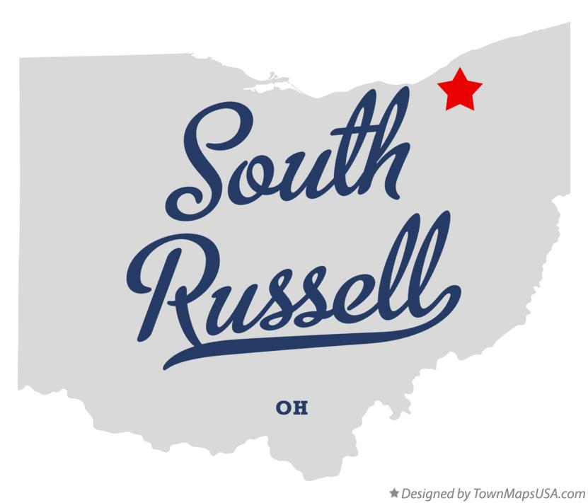 Map of South Russell Ohio OH
