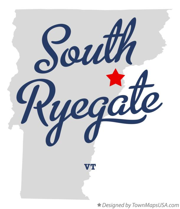 Map of South Ryegate Vermont VT