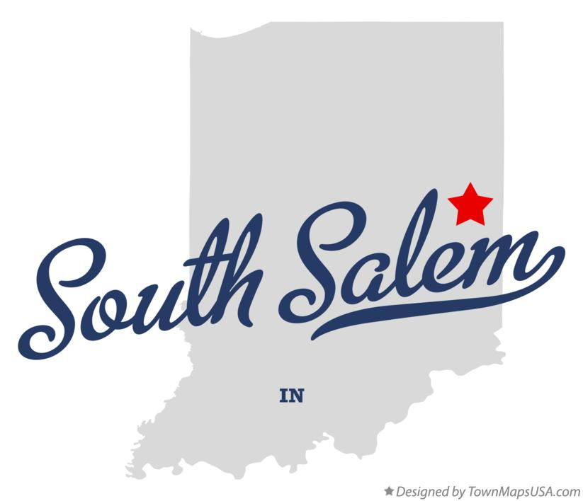 Map of South Salem Indiana IN