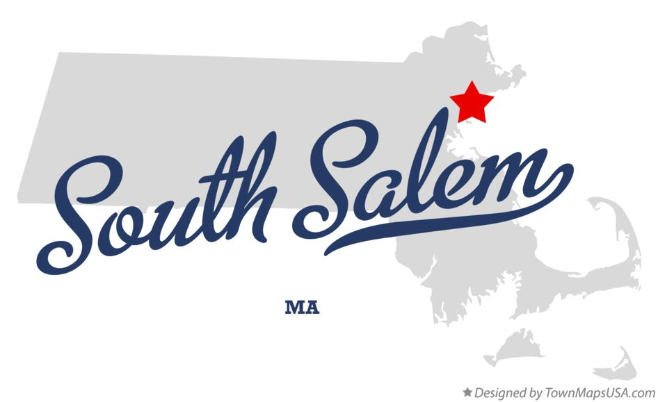 Map of South Salem Massachusetts MA