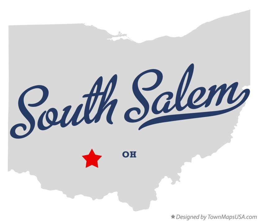 Map of South Salem Ohio OH