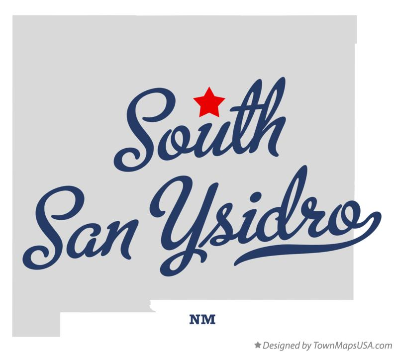 Map of South San Ysidro New Mexico NM