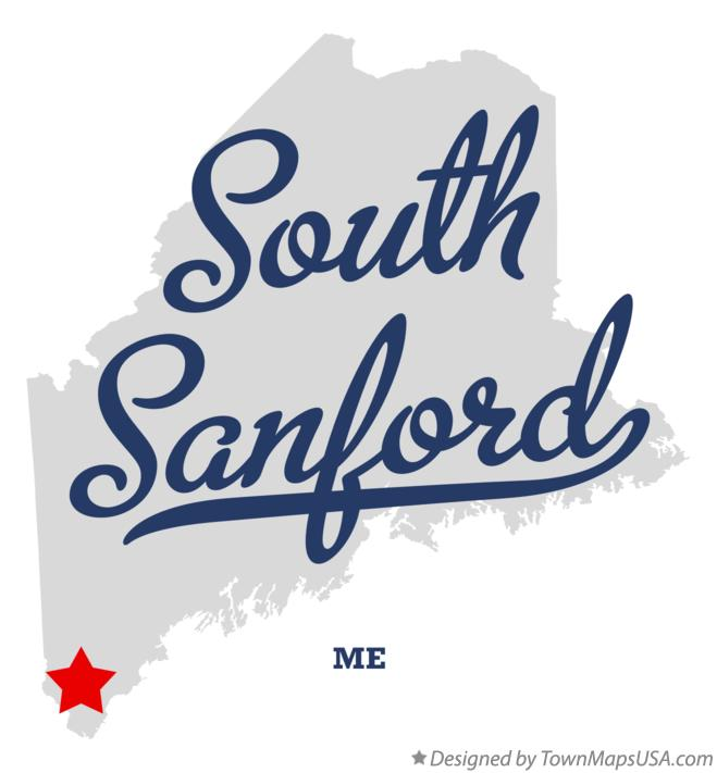 Map of South Sanford Maine ME