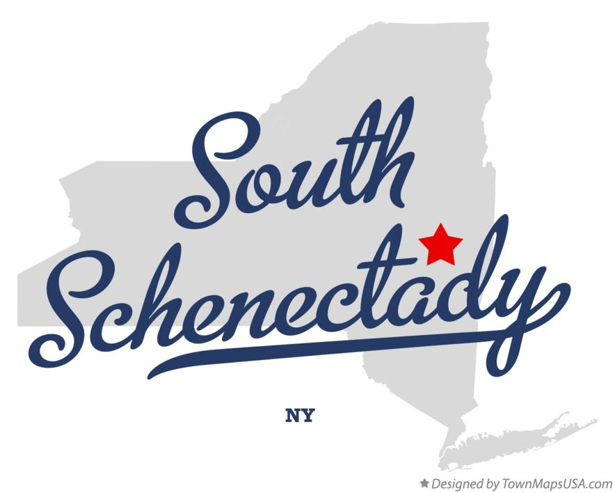 Map of South Schenectady New York NY