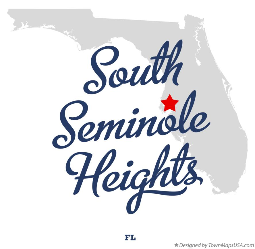 Map of South Seminole Heights Florida FL