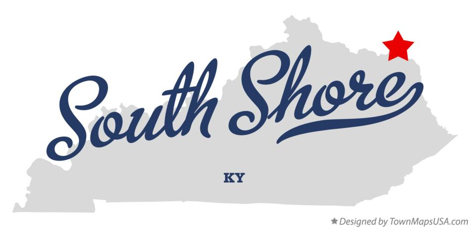 Map of South Shore Kentucky KY