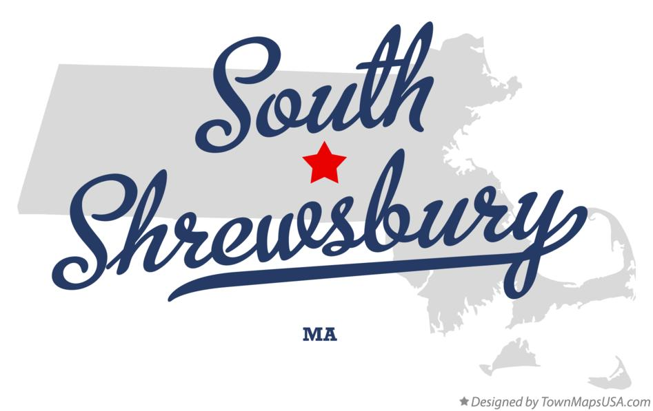 Map of South Shrewsbury Massachusetts MA