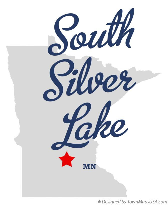 Map of South Silver Lake Minnesota MN