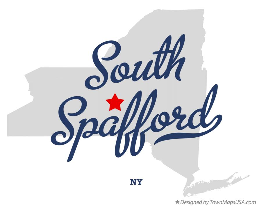 Map of South Spafford New York NY