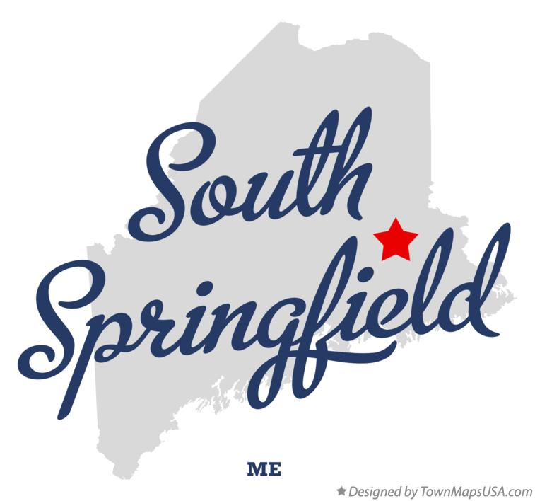Map of South Springfield Maine ME