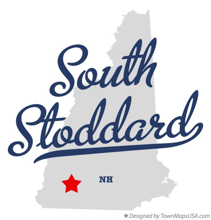 Map of South Stoddard New Hampshire NH