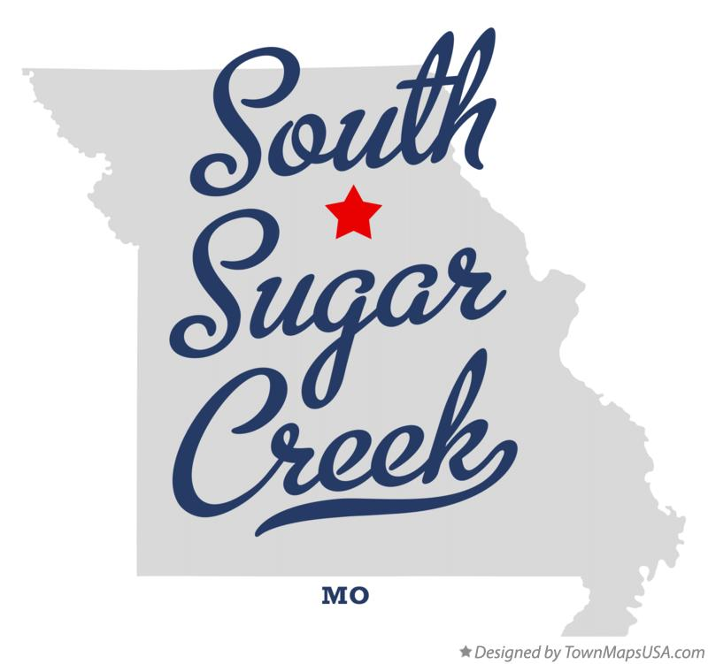 Map of South Sugar Creek Missouri MO