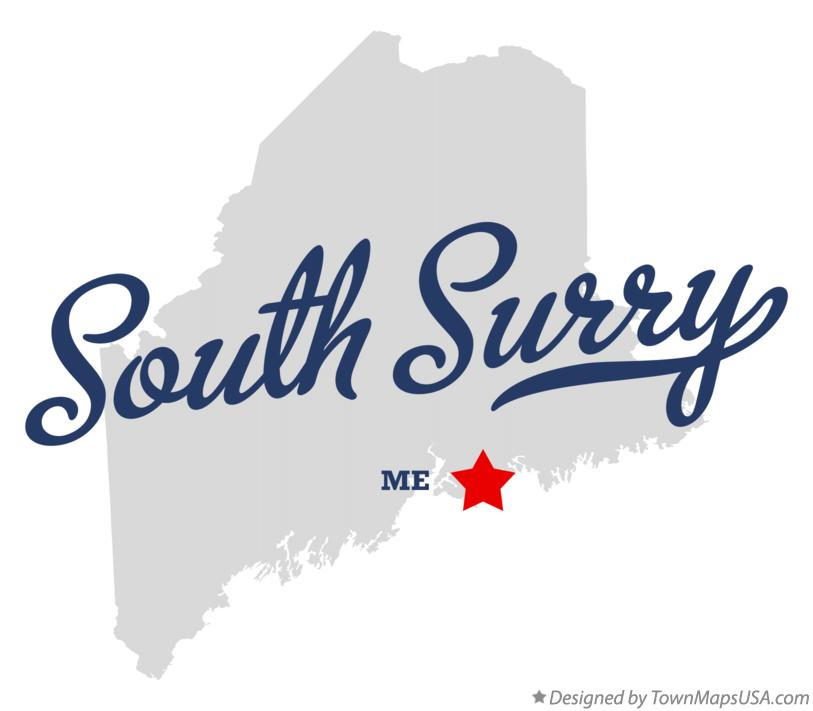 Map of South Surry Maine ME