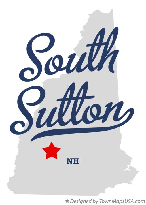 Map of South Sutton New Hampshire NH