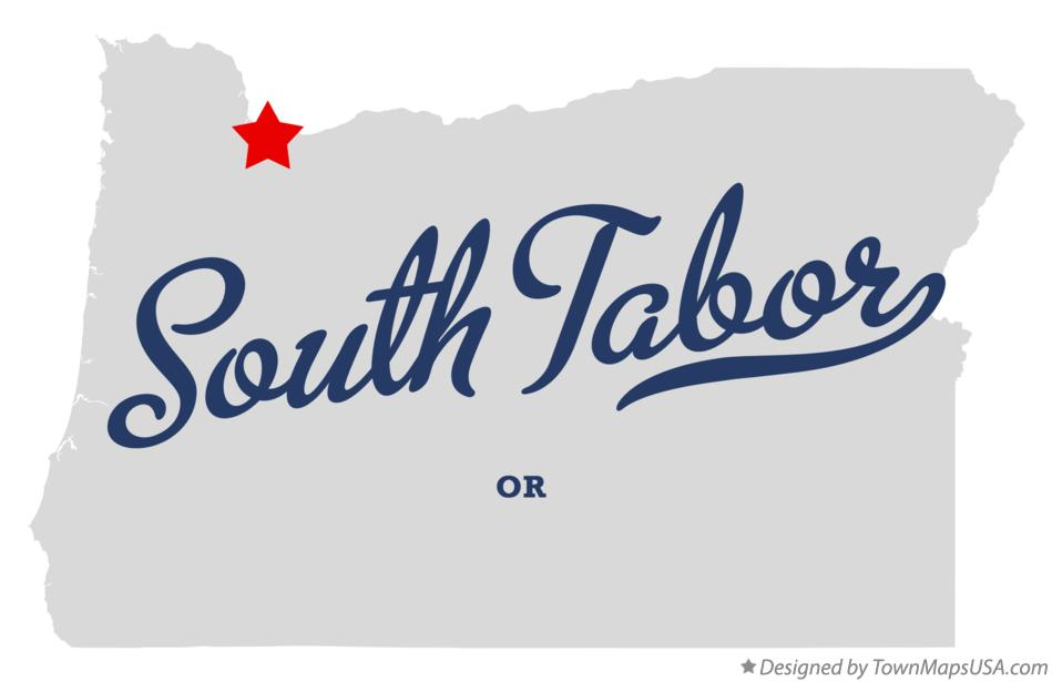 Map of South Tabor Oregon OR