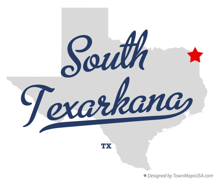 Map of South Texarkana Texas TX