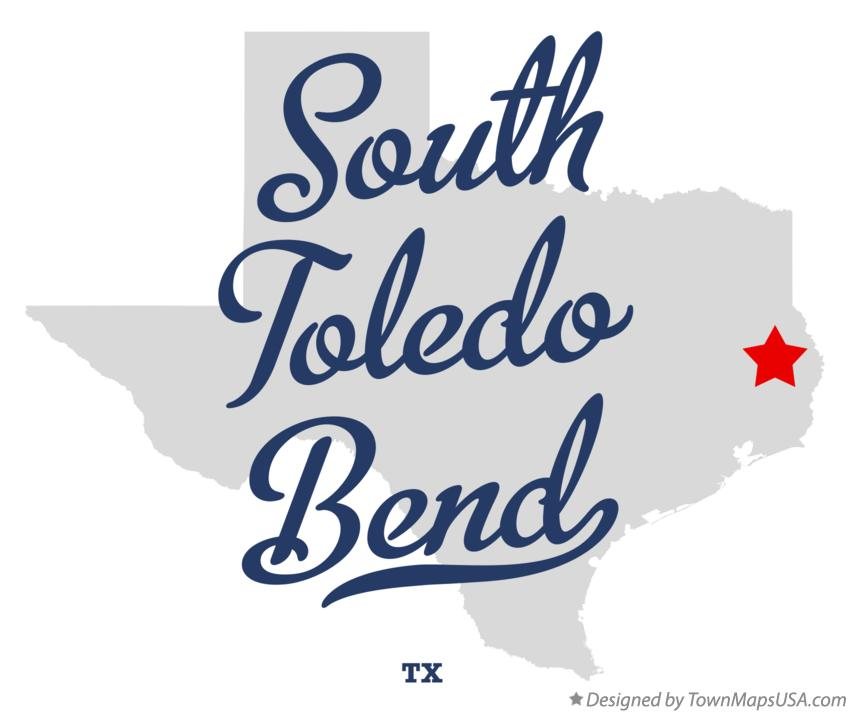 Map of South Toledo Bend Texas TX