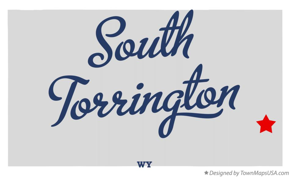 Map of South Torrington Wyoming WY