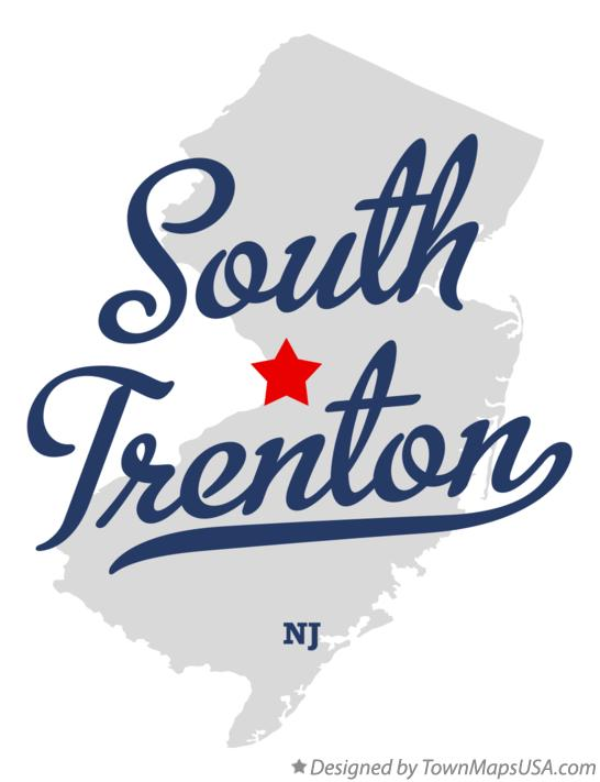 Map of South Trenton New Jersey NJ