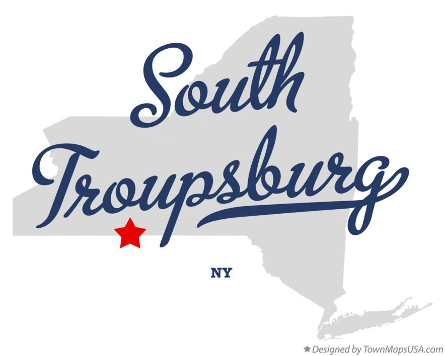 Map of South Troupsburg New York NY