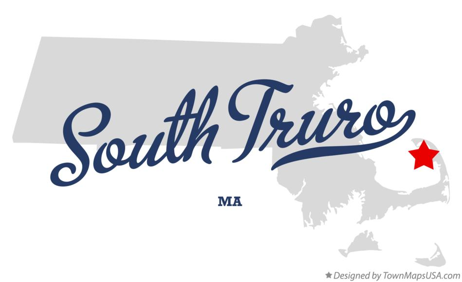 Map of South Truro Massachusetts MA