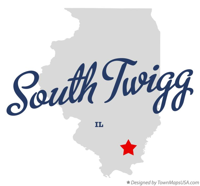 Map of South Twigg Illinois IL