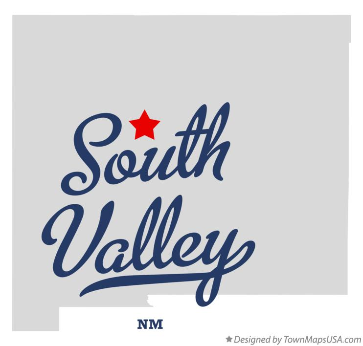 Map of South Valley New Mexico NM