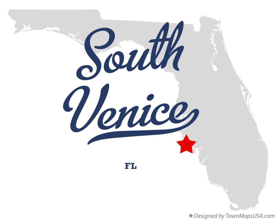 Map of South Venice Florida FL