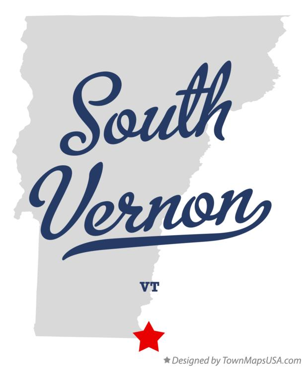 Map of South Vernon Vermont VT