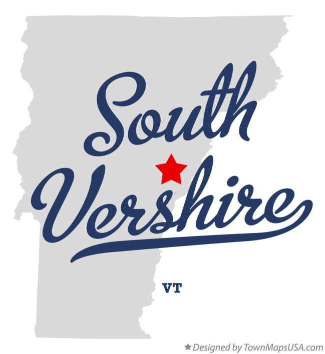 Map of South Vershire Vermont VT