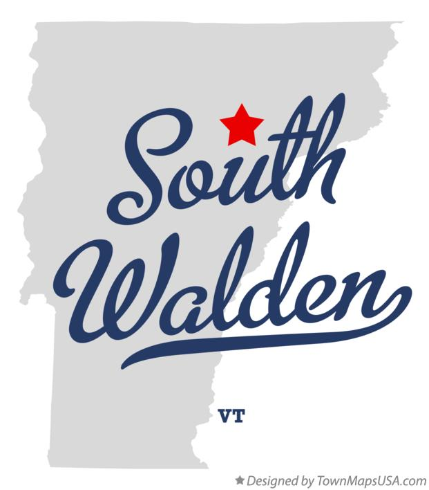 Map of South Walden Vermont VT
