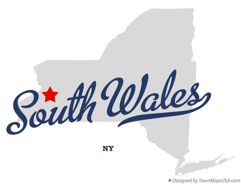 Map of South Wales New York NY