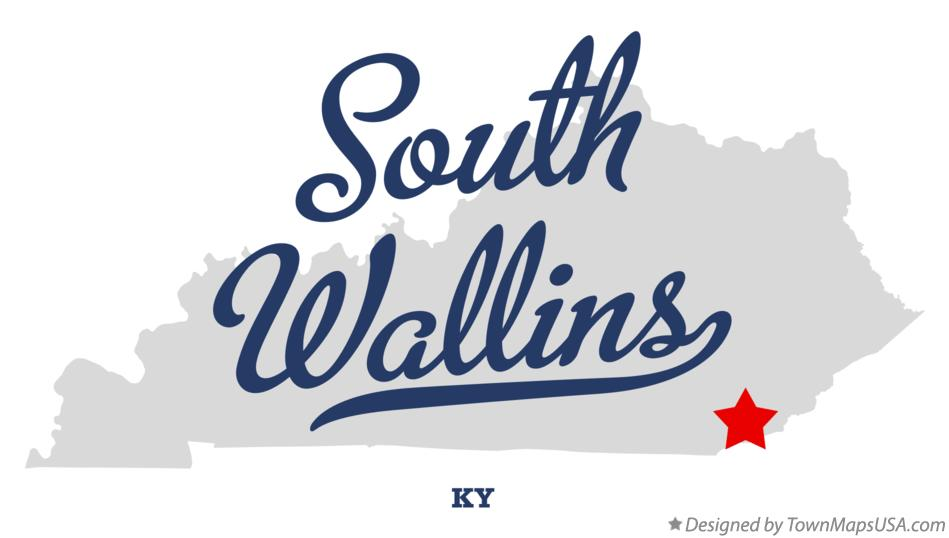 Map of South Wallins Kentucky KY