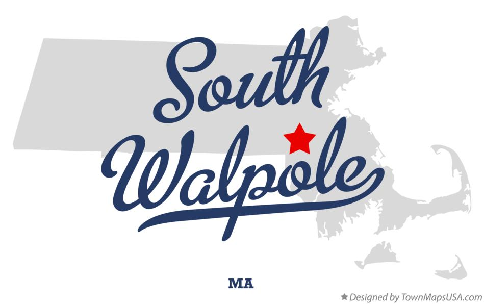 Map of South Walpole Massachusetts MA