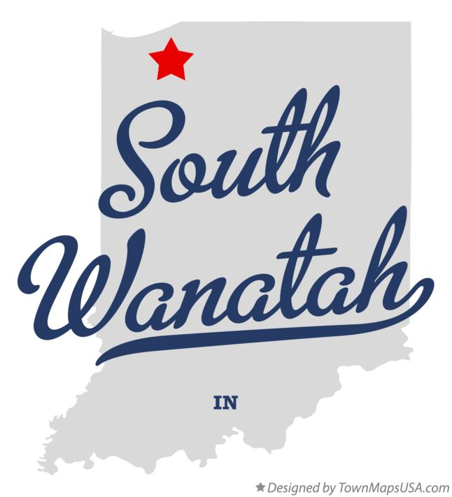 Map of South Wanatah Indiana IN