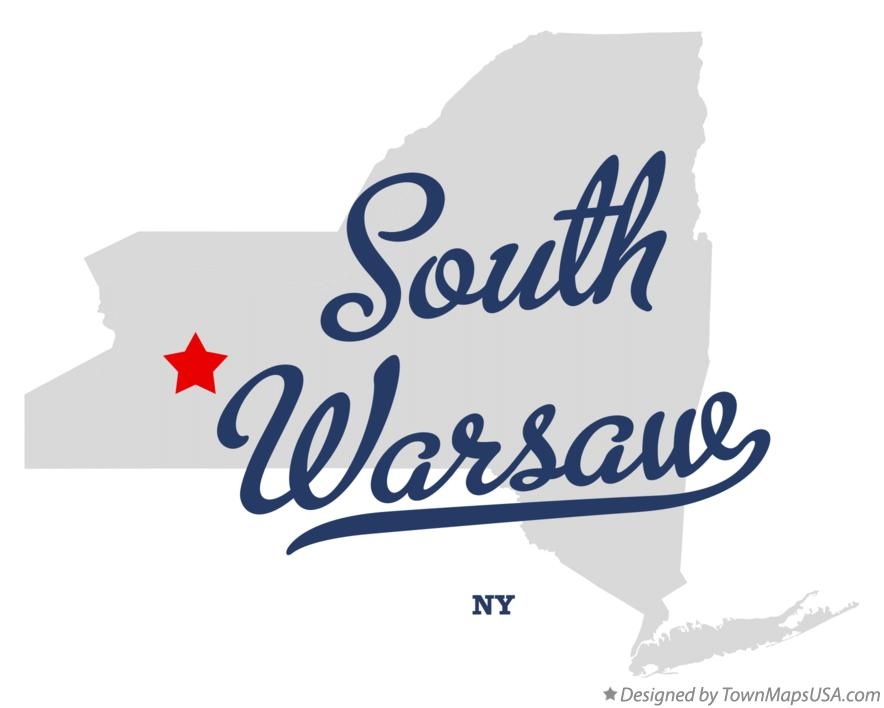 Map of South Warsaw New York NY