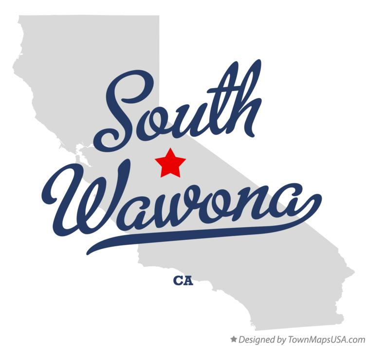 Map of South Wawona California CA