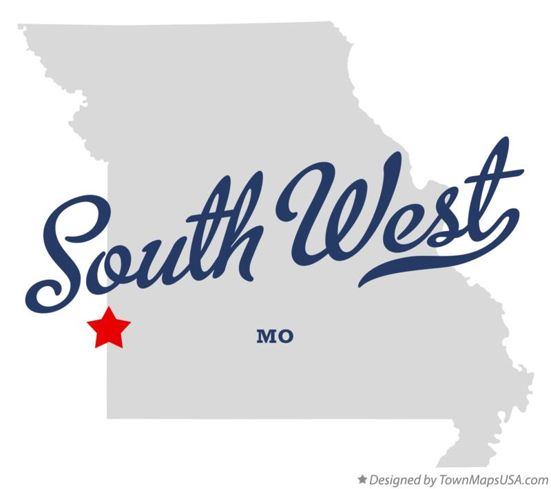 Map of South West Missouri MO