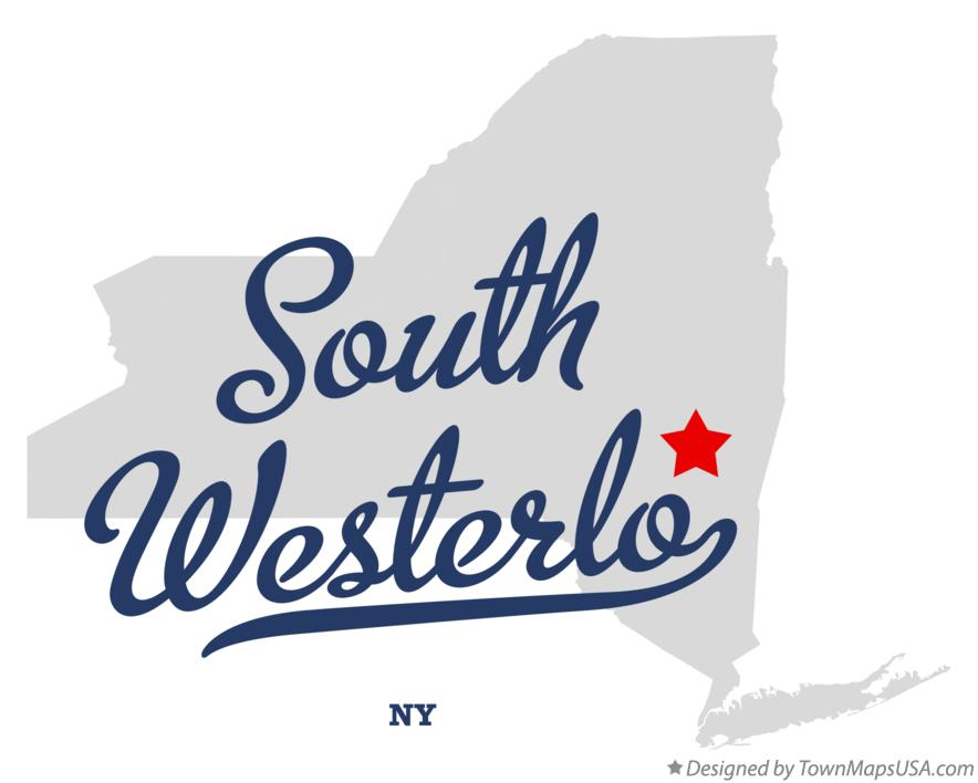 Map of South Westerlo New York NY