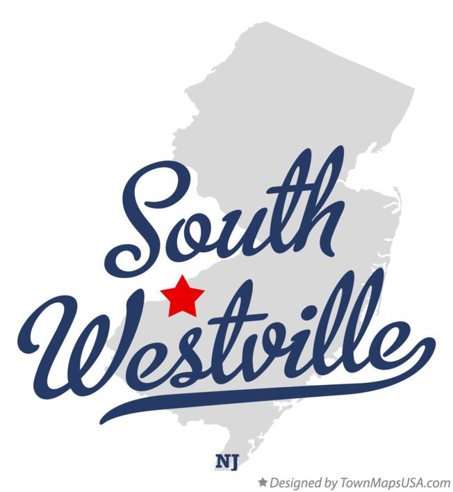 Map of South Westville New Jersey NJ