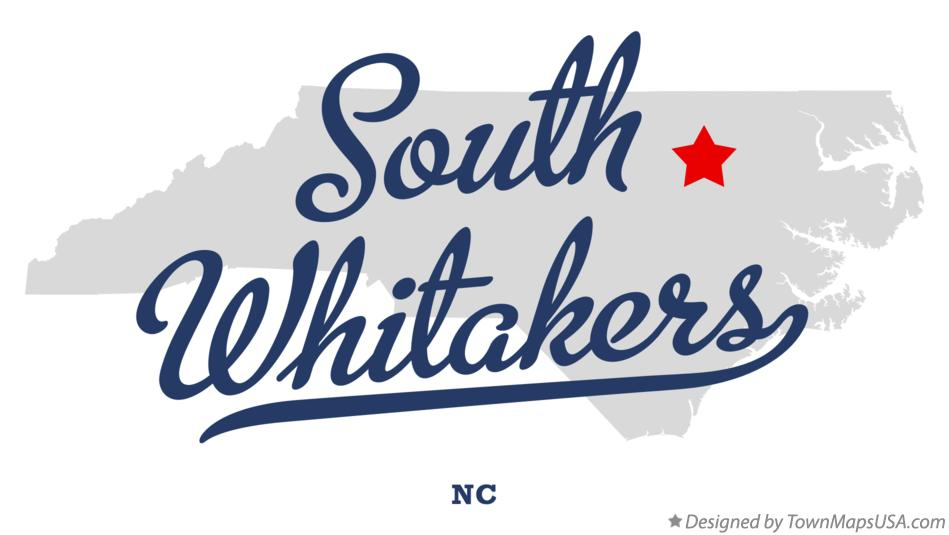 Map of South Whitakers North Carolina NC
